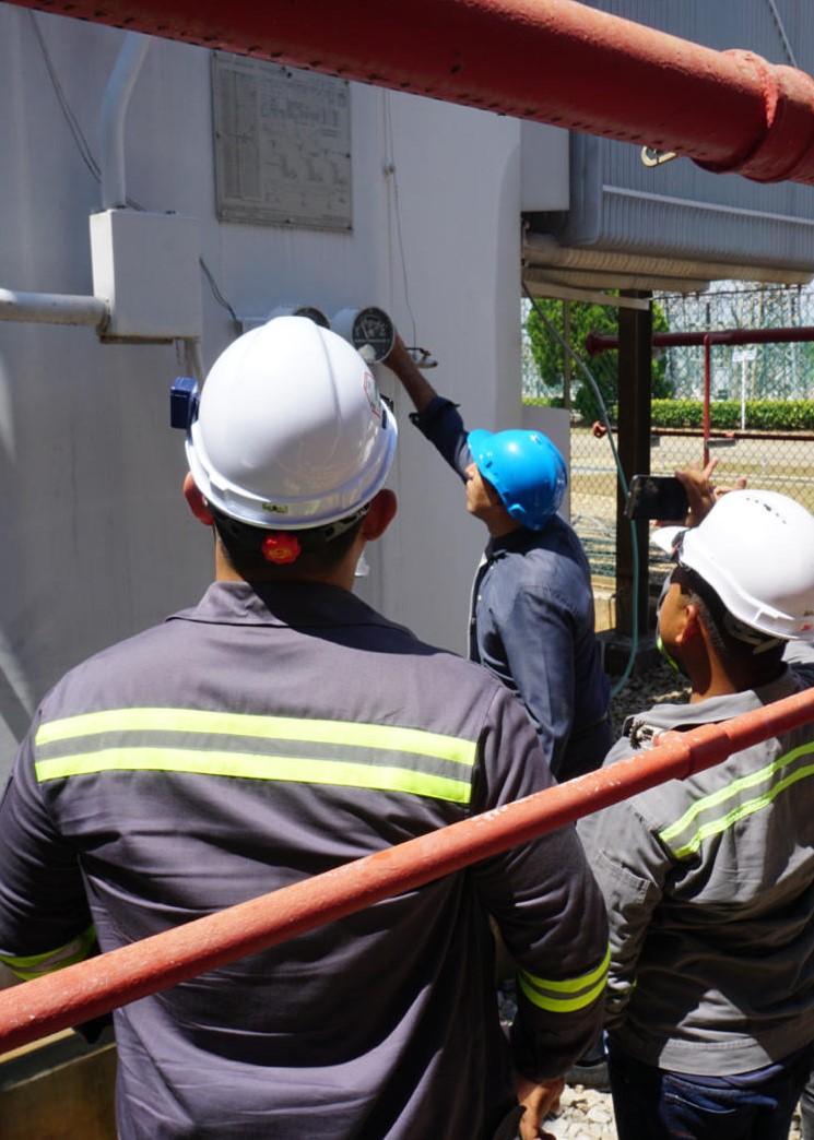OJT of power plant training