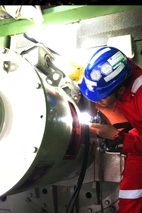 generator excitor inspection of power plant operation and maintenance